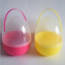 1 шт. 18*25 см Большой размер пластиковое пасхальное яйцо подарок яйцо пластиковые коробки для конфет детский душ Рождественское украшение коробка
