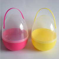 1pcs 18 25cm Big Size Plastic Easter Egg Gift Egg Plastic Candy Boxes Baby Shower Christmas