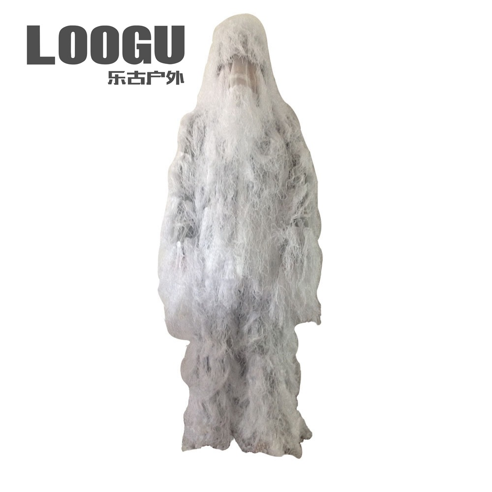 Clothing, Shoes & Accessories 3d Premium Ghillie Suit White Camouflage Outdoor Winter Snow/jungle Camouflage Traning Hunting Suit Handsome Appearance