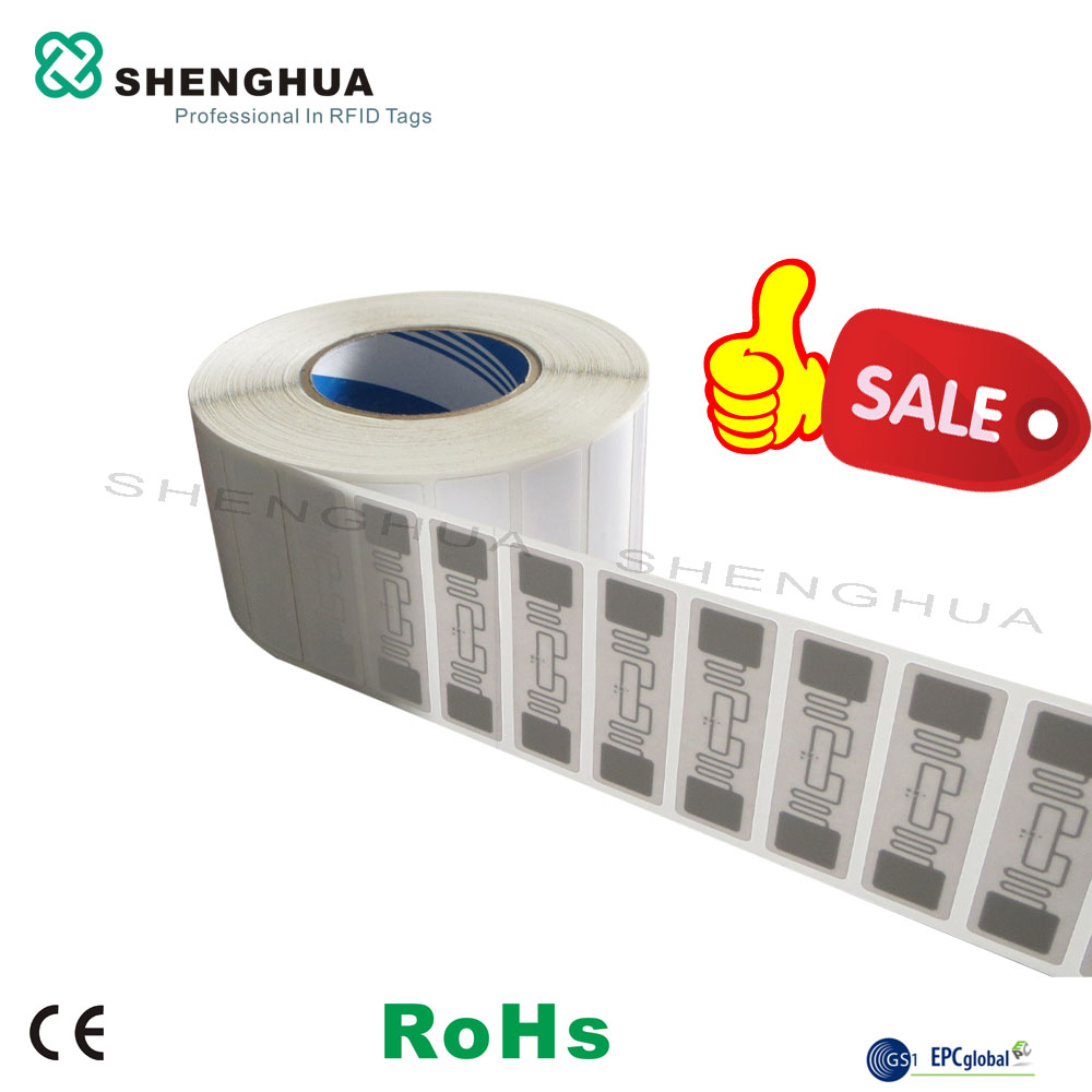 2000pcs/roll UHF RfiD Tag Chip Antenna Passive Long Range Paper Roll UHF RFID Sticker Tags Label Price For Supermarkets