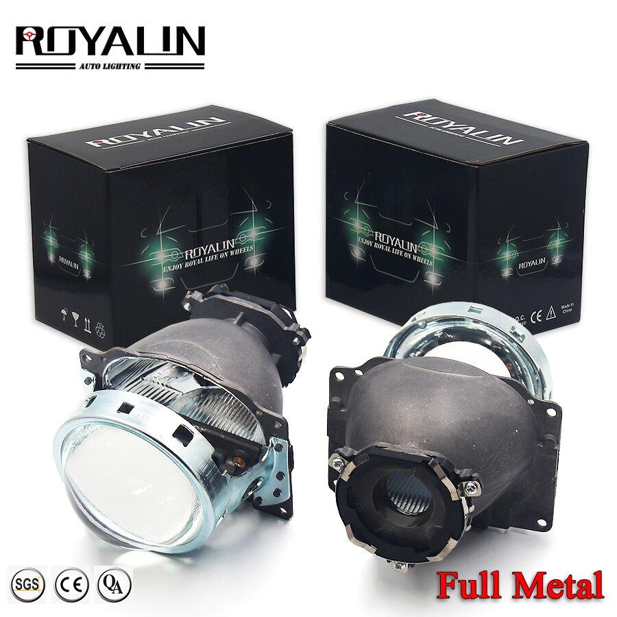 ROYALIN pour Koito Q5 Bi xénon métal projecteur phare 3 pouces pour D1S D2S D3S D4S ampoules voiture style rénovation lentille lampe