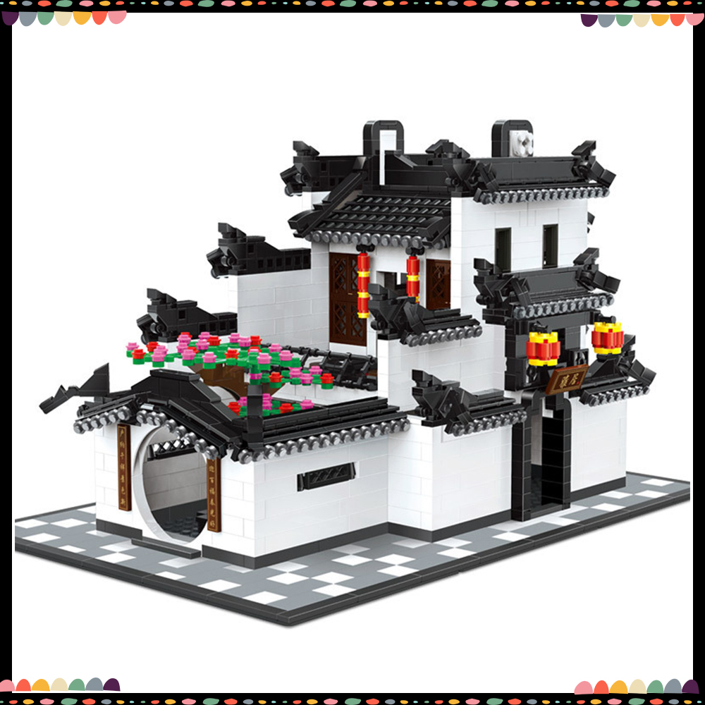 Wange 5310  Building Blocks City Model China Chinese Style Architecture DIY Bricks Educational Toys For Kids Gifts For ChildrenWange 5310  Building Blocks City Model China Chinese Style Architecture DIY Bricks Educational Toys For Kids Gifts For Children