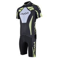 Men's Cycling Cloth SetShort Sleeve Cycling Jersey Padded Short Sportswear Suit Set Breathable