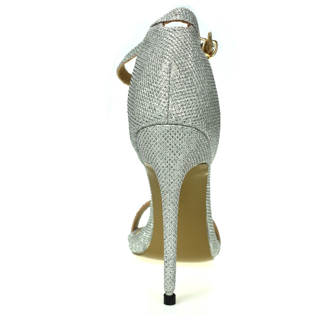 Arden Furtado 2017 summer extreme high heels silver gold sexy party shoes  for woman sequined cloth sandals small size Stiletto -in High Heels from  Shoes on ... d10c70830696