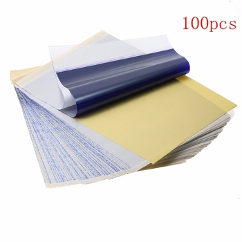 Newest Tattoo assessories Stencil Transfer Paper A4 Tattoo Thermal Stencil Transfer Paper Thermal Stencil Carbon  Paper Supply practical set 100 sheets tattoo thermal stencil transfer copier paper a4