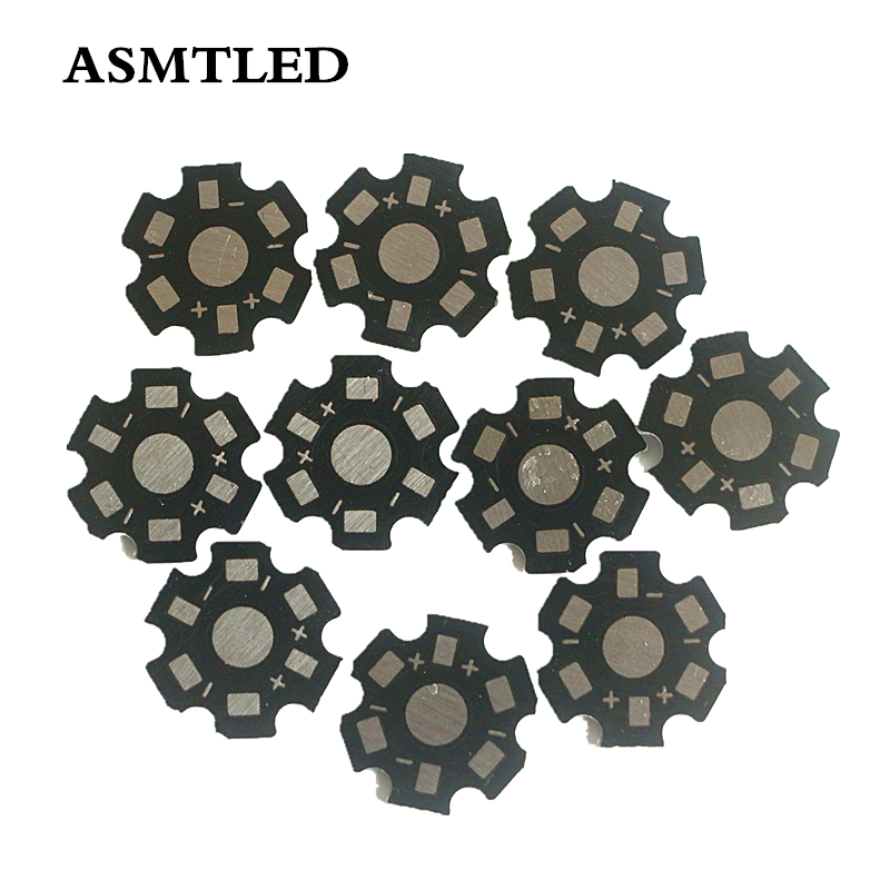10/20/50/100/200/500/1000Pcs Black Hexagon LED Chip PCB Board 20mm LED Aluminium Base Plate For 1W 3