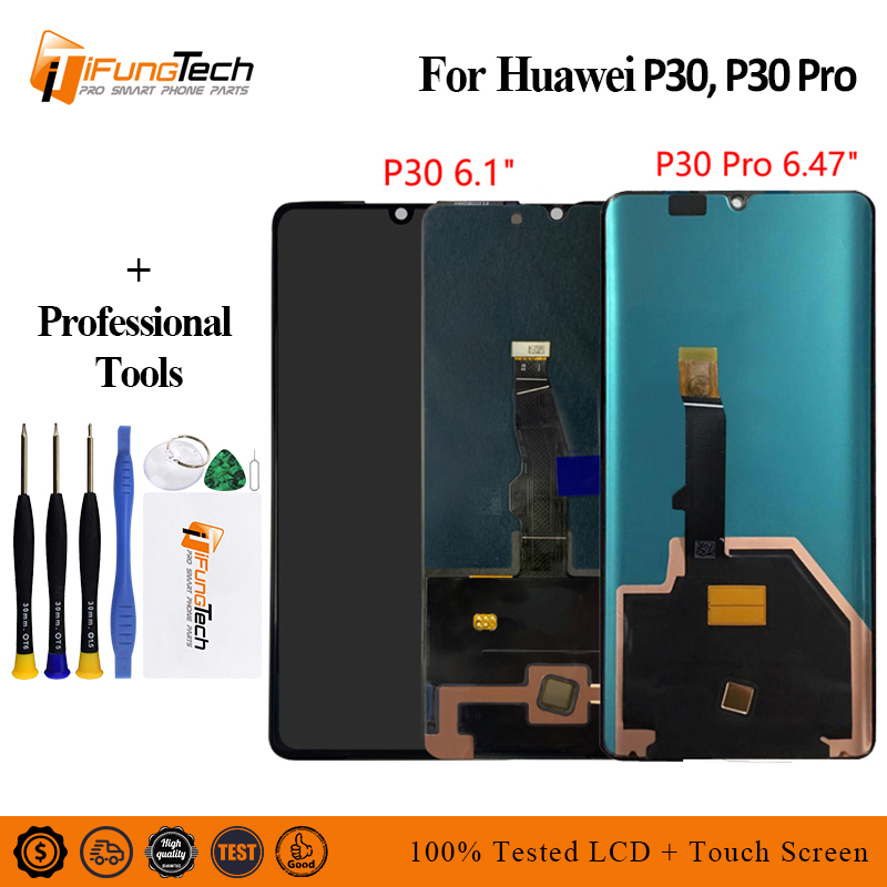 For Huawei P30 Pro LCD For Huawei P30 LCD Touch Screen Digitizer Assembly VOG L04 VOG