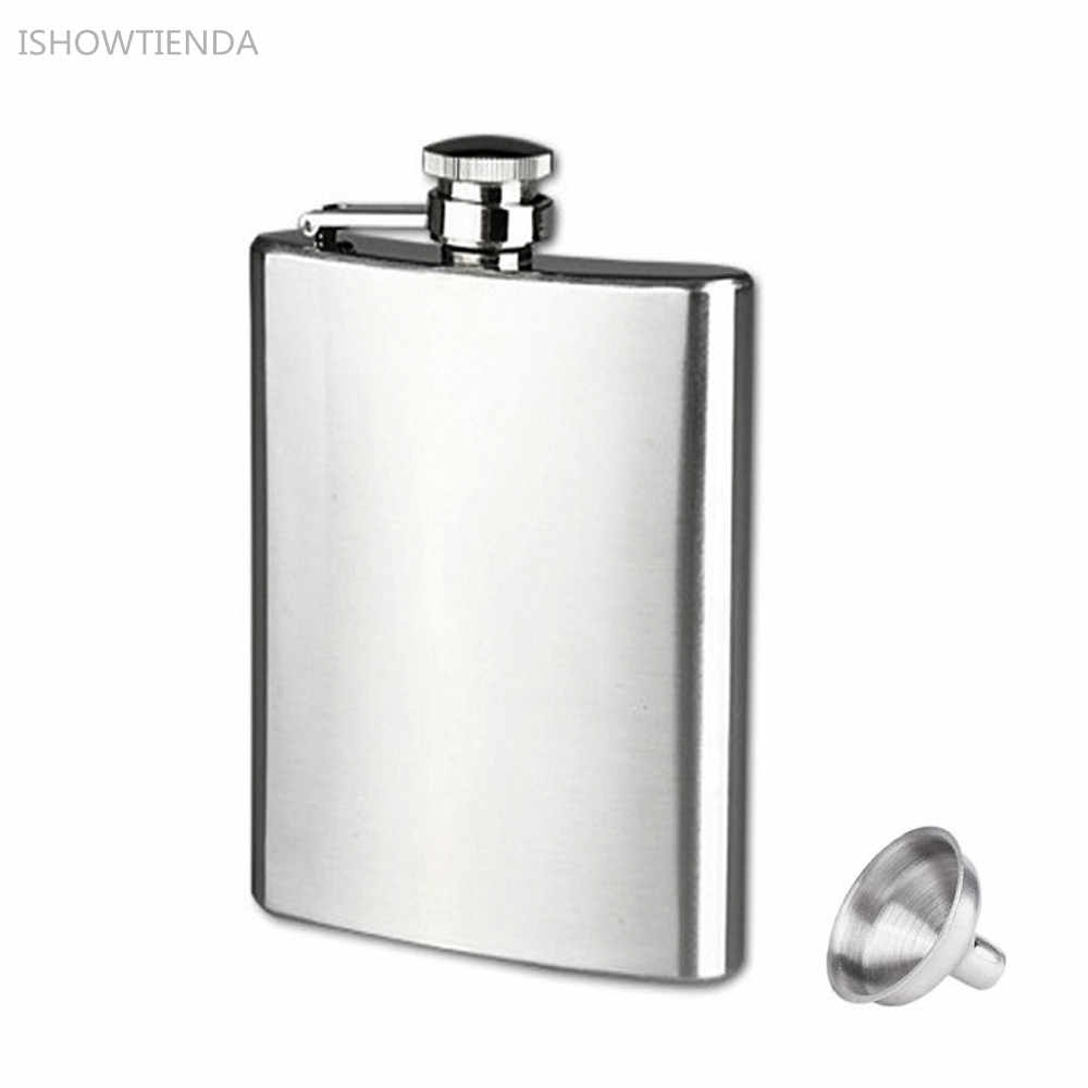 e6dff35852 ISHOWTIENDA Hot 9oz 18oz Stainless Steel Pocket Hip Flask Alcohol Whiskey  Liquor Screw With Cap Funnel