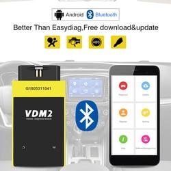 UCANDAS VDM2 полная система V5.2 Bluetooth/Wifi OBD2 VDM II для Android VDM 2 OBDII сканер кода PK easydiag обновление бесплатно
