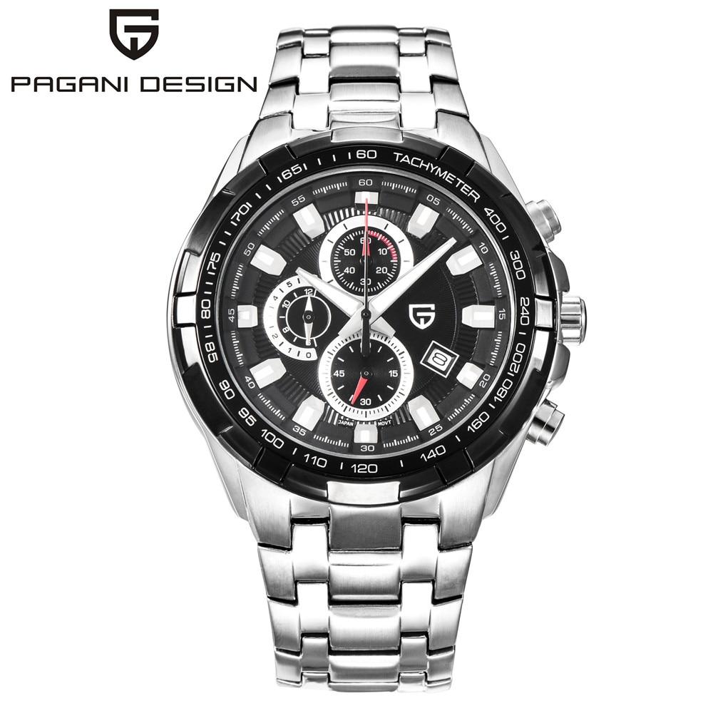Herenhorloges 2017 luxe Pagani merkontwerp horloge Volledige stalen - Herenhorloges