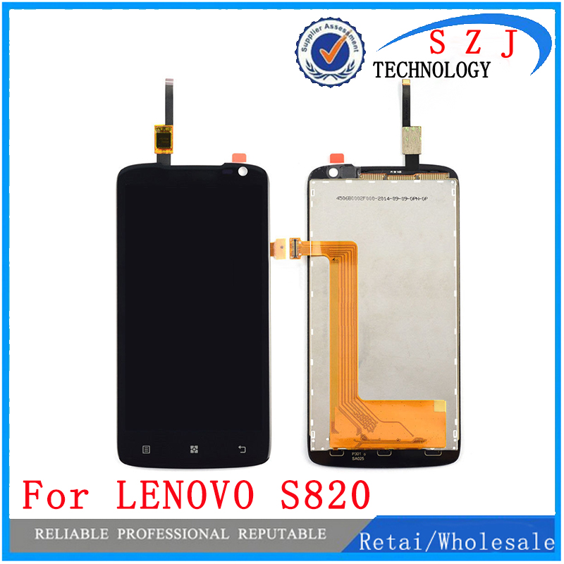 New 4.7 inch Full LCD Display Screen With Touch Screen Digitizer Assembly For Lenovo S820 Replacement Repair Parts Free shipping for new lcd display touch screen digitizer with frame assembly replacement acer a1 820 8 inch black free shipping