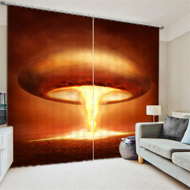Mushroom cloud 3D Blackout Window Curtains For Living room Bedding room Home Decor Tapestry Wall Carpet Drapes CotinasMushroom cloud 3D Blackout Window Curtains For Living room Bedding room Home Decor Tapestry Wall Carpet Drapes Cotinas