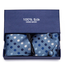 Vangise Gift box Packing Striped Tie Luxury Silk Ties for Men 145cm long High Quality Mens Cravata 7.5cm Wide Male Neck