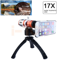 2017 New Phone Cases Camera Lenses Kit 17x Telephoto Zoom Lens For iPhone 4 4s 5 5s SE 6 6s 7 Plus Cases Telescope With Tripod