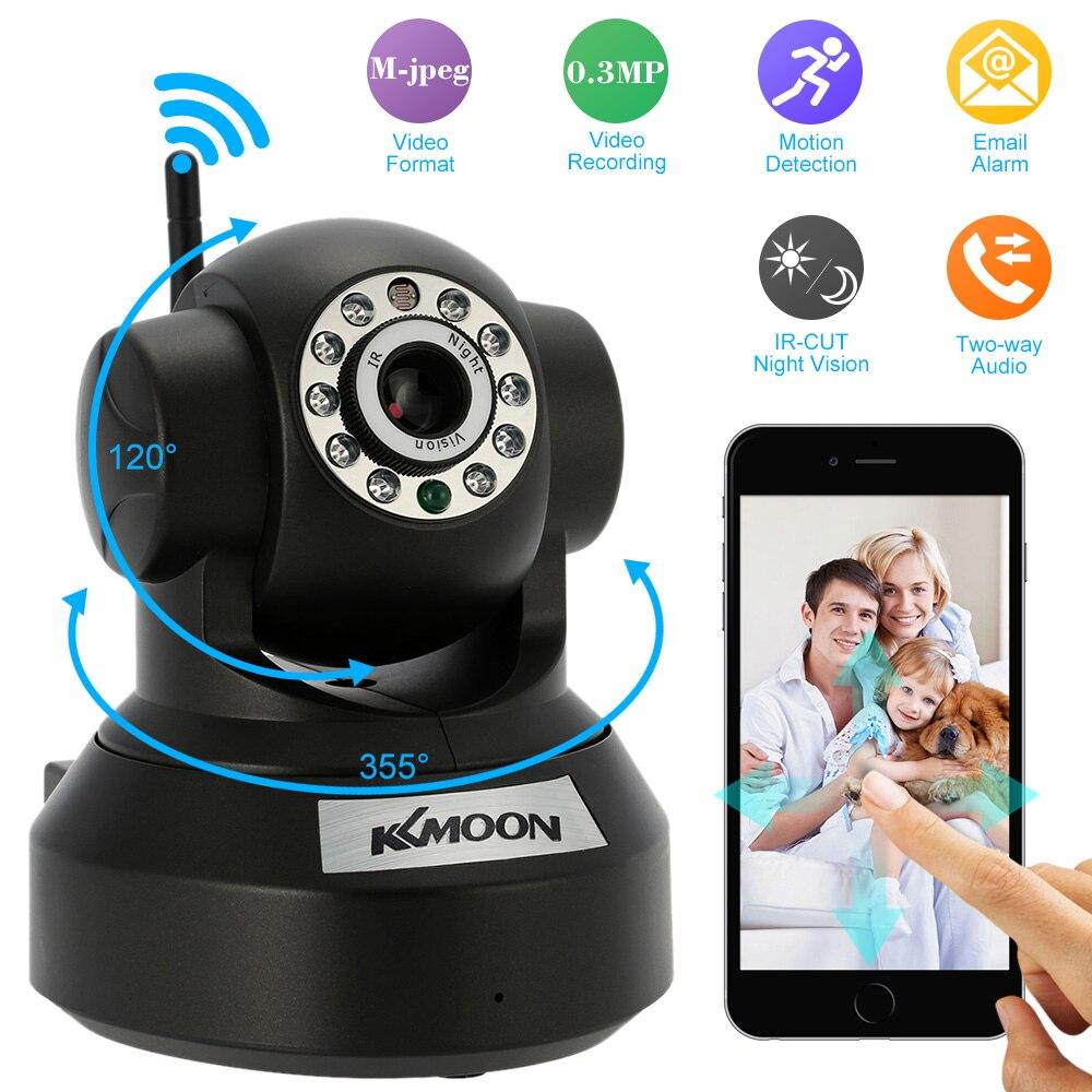 imágenes para KKmoon 0.3MP Wifi Wireless Cámara IP Onvif Ir-cortó la Visión Nocturna de Grabación De Audio de Seguridad IP Cam CCTV Cámara de Red Webcam