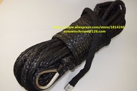 Good Quality 12mm 30m Black Synthetic Rope Synthetic Winch Rope Replacement Synthetic Rope For Winch