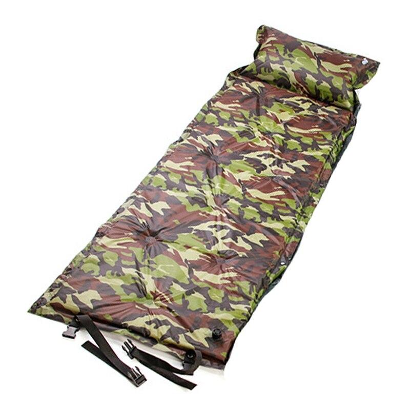 Portable Moisture-Proof Camping Roll Mats Sleeping Bed With Pillow Mattress Picnic Beach Air Mattress Bed Mats With Storage Bag