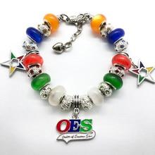 Bracelet de la société étoile orientale, bijoux, grand trou, en métal émaillé, tendance