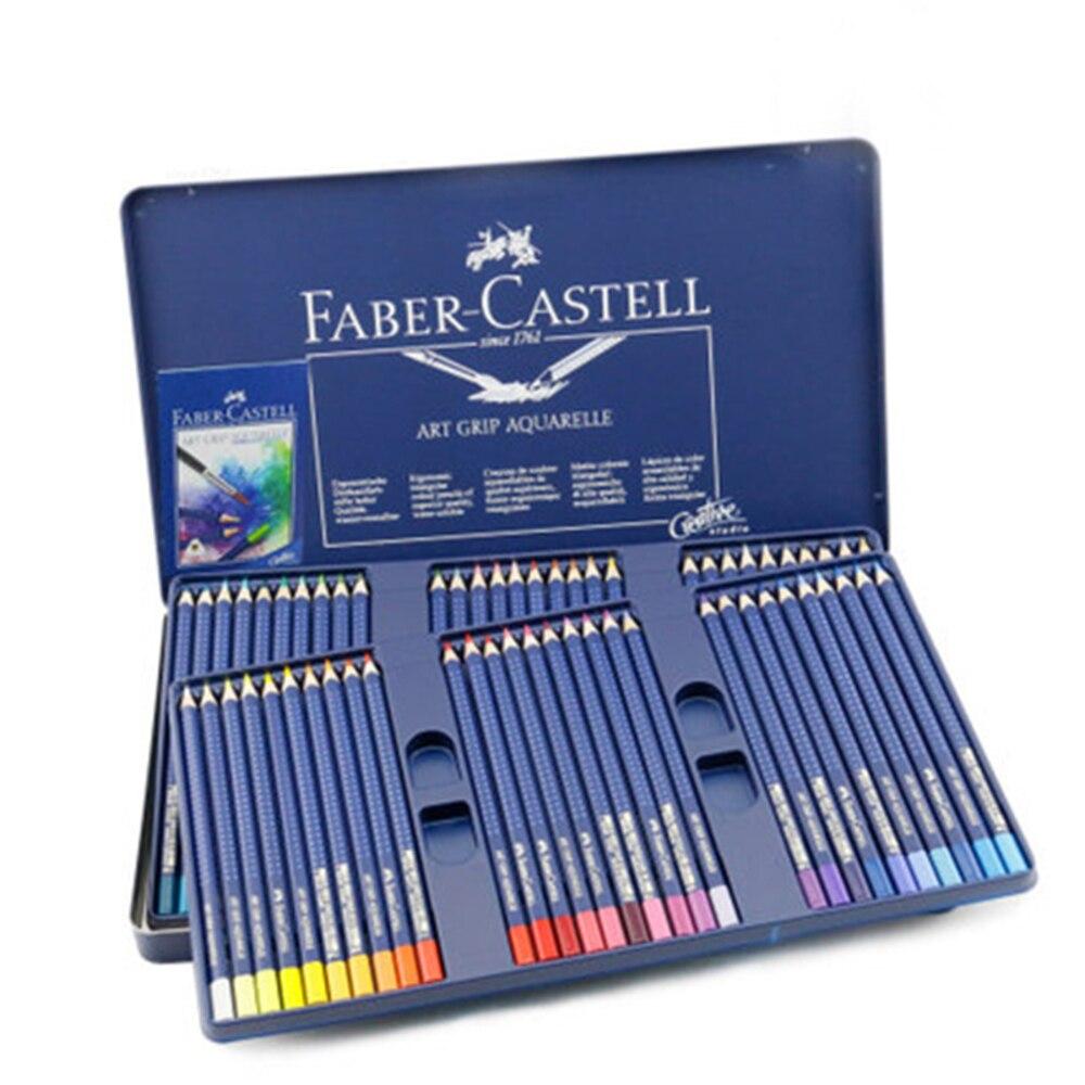 Faber Castell Color Pencil 12/24/36/60 set Water-soluble Color Pencil Drawing Design Art School Color Pencil Lapis de Cor faber orizzonte eg8 x a 60 active
