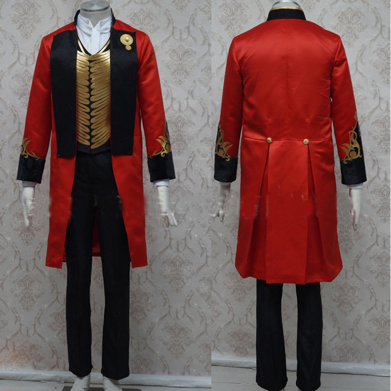 Men Halloween The Greatest Showman Cospaly Costume P.T. Barnum Costume Full Set Halloween Carnival Party Costume Custom