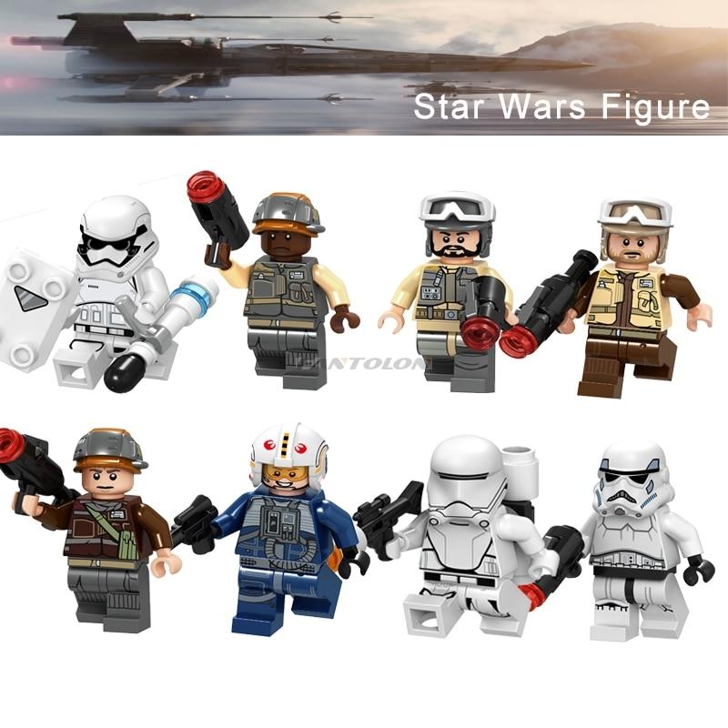 Single Sale Legoing Star Wars First Order Stormtrooper Rebel Troopers Rebel Pilot Flametrooper Starwars Building Block Gift Toy