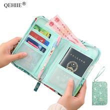 QEHIIE nowy paszport podróży portfel paszport posiadacz Multi-Function karta kredytowa pakiet ID dokument Multi-Card Storage Pack sprzęgło tanie tanio Akcesoria podróżne Nylon 2 cm Kwiatowy H-164 w 0 1 kg masy ciała 18 6 cm W QEHIIE 25cm Pokrowce na paszport