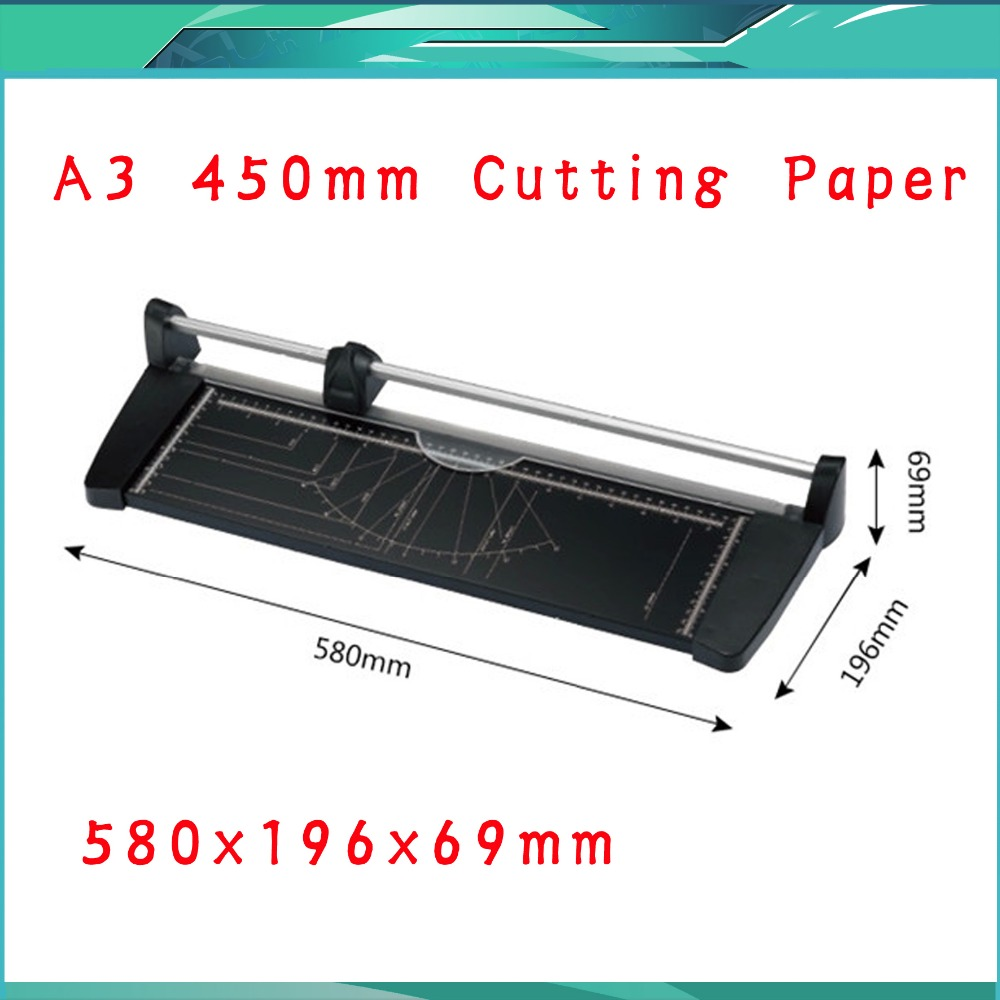 Wholesale Portable Paper Cutting TrimmerA3(580X196X69MM) Manual Paper Trimmer Cutter Blades Handmade Tool Office School Supplies visad scissors portable paper trimmer paper cutting machine manual paper cutter for a4 photo with side ruler