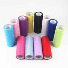 15cm*10Yards Hard Chiffon Small Sequins Glitter Tulle Roll for Wedding Decoration Party DIY Skirt Baby Shower Mesh Organza Spool