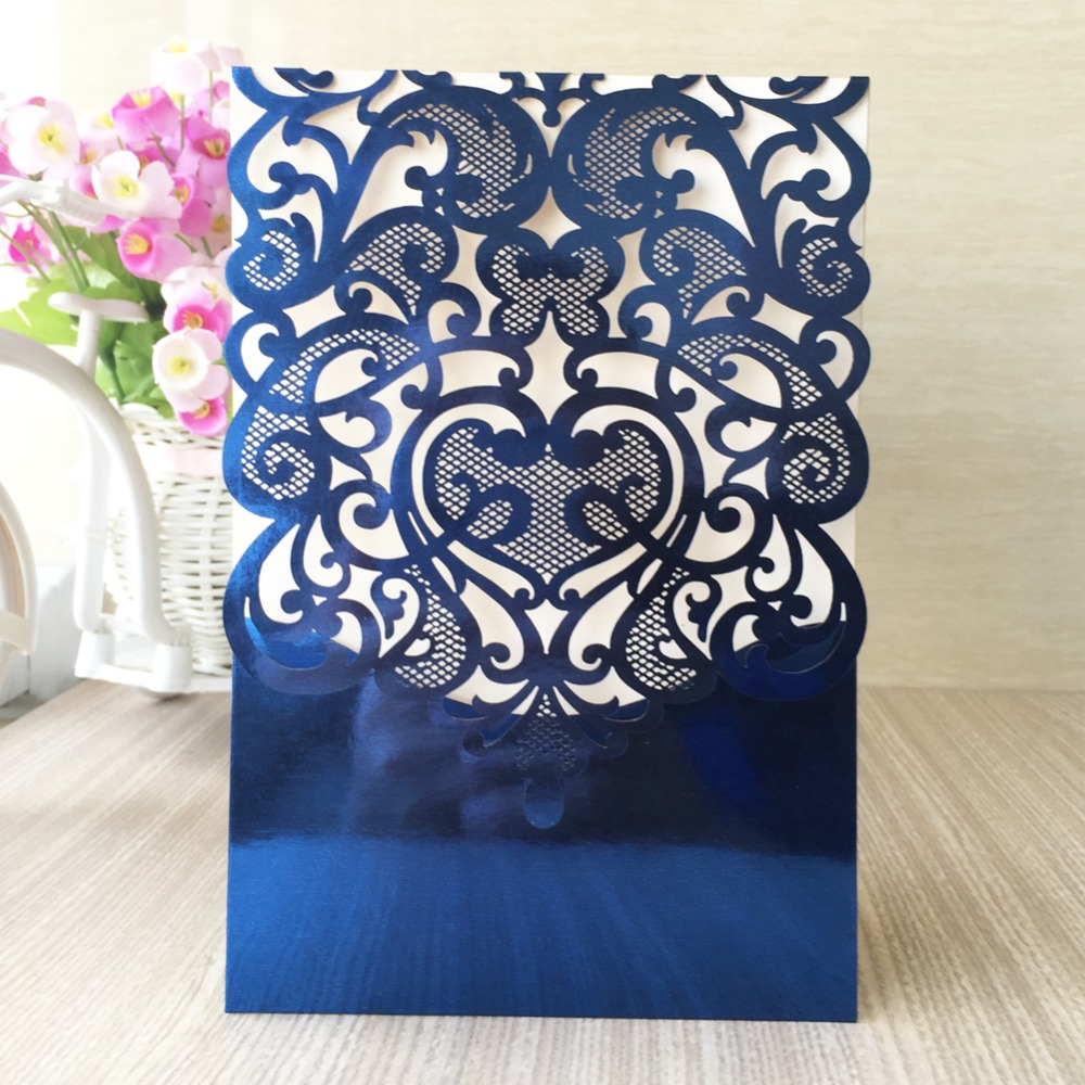 online get cheap blue silver wedding invitations -aliexpress, Wedding invitations