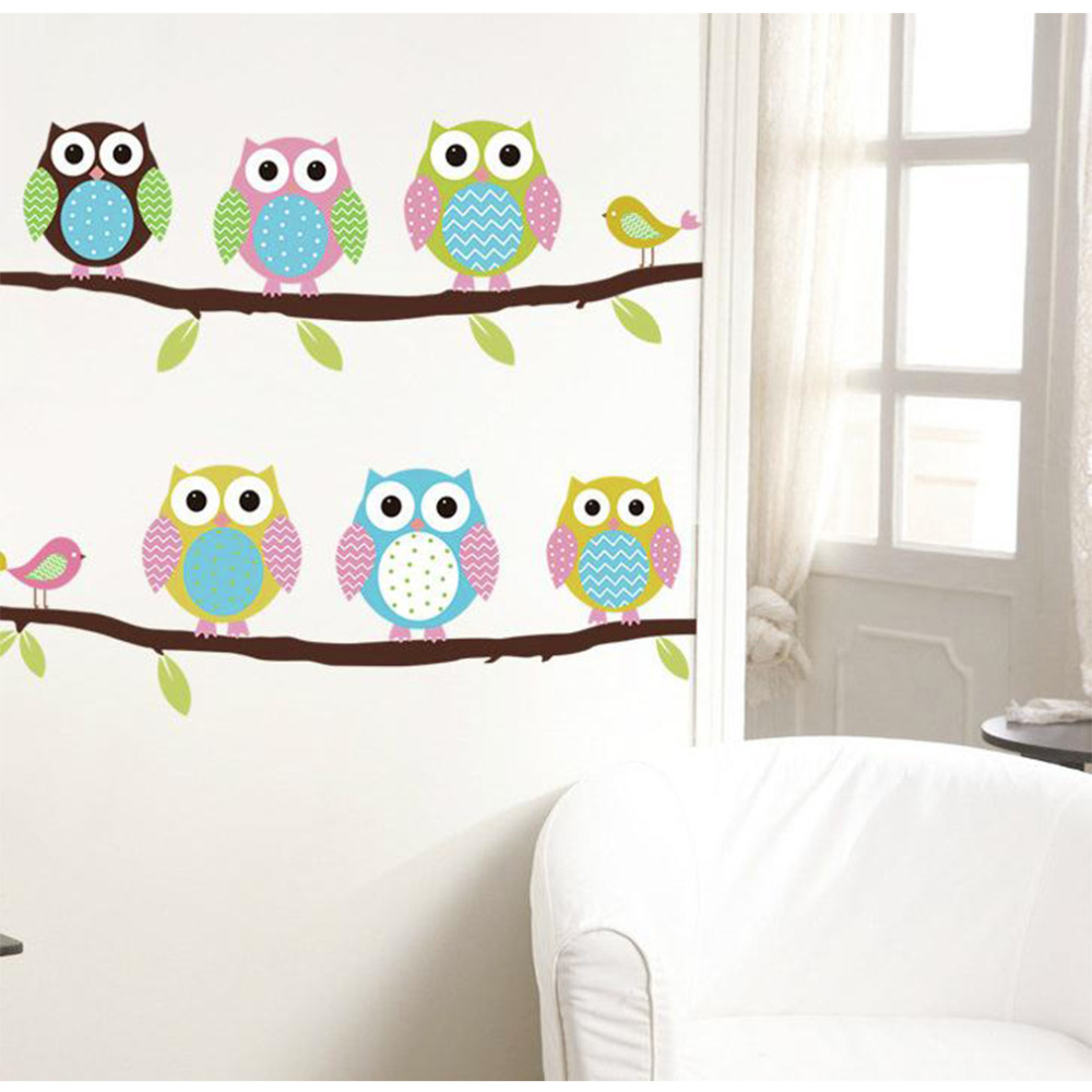 Owl decor for baby room - Cute Cartoon Owl Wall Sticker Baby Room Nursery Kids Decor Decal Diy New Worldwide Store