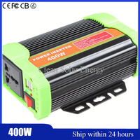 New Design 400W Modified Sine Wave DC24V To AC110V Car Power Inverter 24V 110V 60HZ Solar