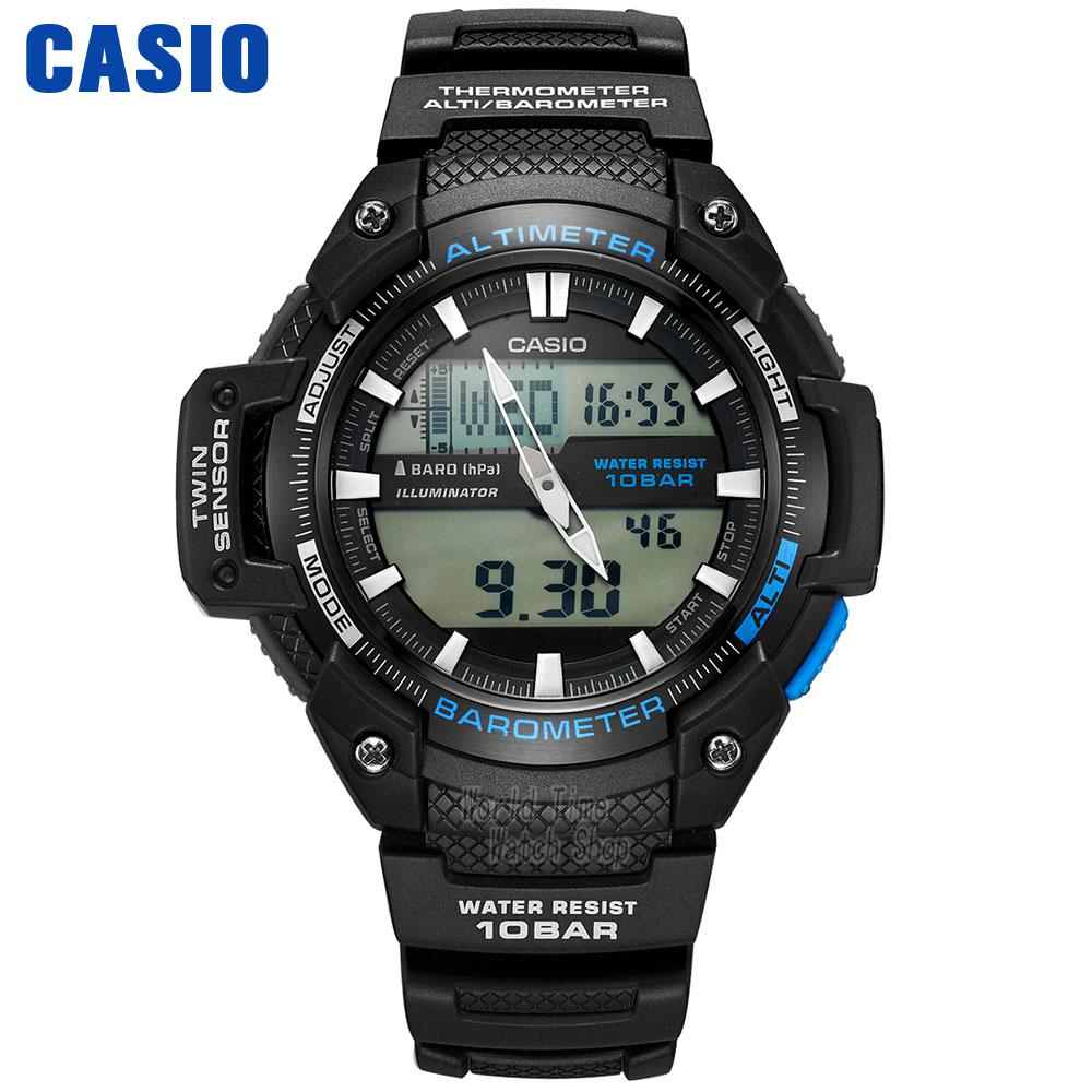 Casio WATCH mountaineering series outdoor waterproof sports electronic male watch SGW-450H-1A SGW-500H-2B цена и фото