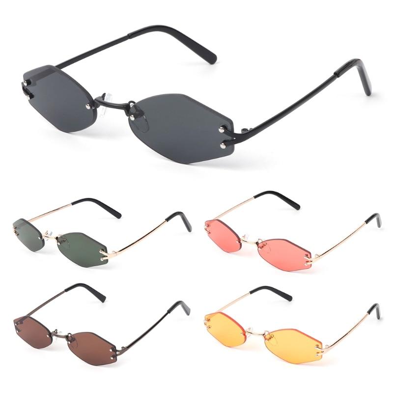 Klar Unisex 5 Randlose Shades Mode Sonnenbrille 2 Vintage Designer Geometrische Marke 3 0d1nqz