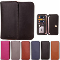 High Quality Universal 4 5 8inch Genuine Leather Wallet Case For Xiaomi Redmi Cover For Lenovo