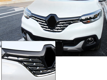 Auto accessories Outer Front Central Grill Grille Molding Cover Trim Decoration ABS 7pcs For Renault Kadjar 2015-2017