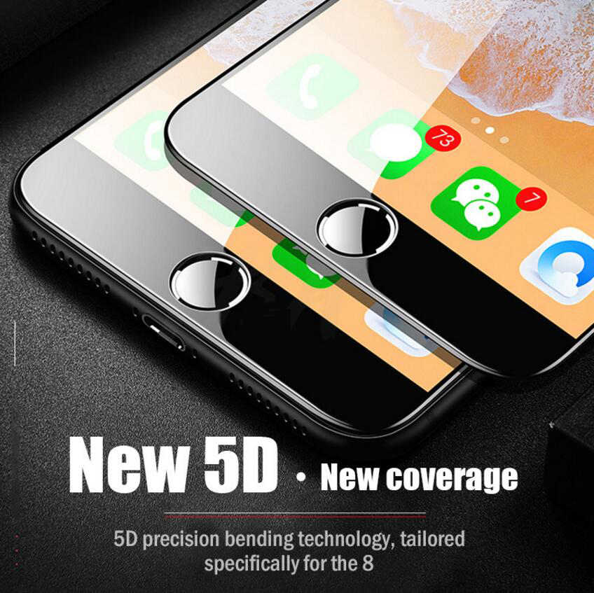 WLMLBU 5D Gehard Glas voor iphone 7 glas 6s plus Screen Protector Voor iphone 6 Glas Volledige Cover Film Gebogen rand