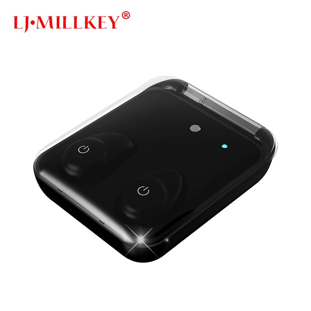 Original TWS True Wireless Bluetooth earphone twins Earbuds portable with charging box For IOS Android Phone LJ-MILLKEY YZ145