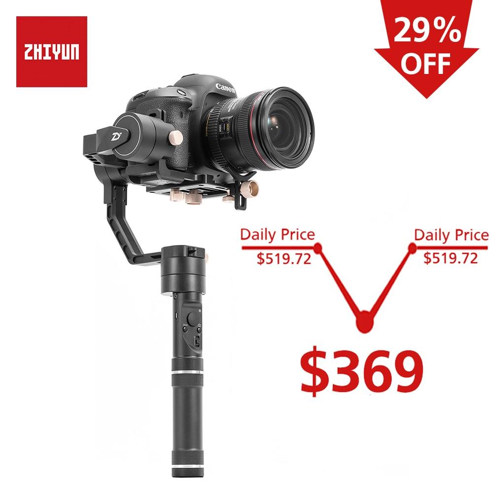 ZHIYUN Oficial Guindaste Mais 3-Eixo Cardan Handheld Estabilizador para a Câmera Mirrorless DSLR para Sony A7/Panasonic LUMIX /Nikon J/Cano