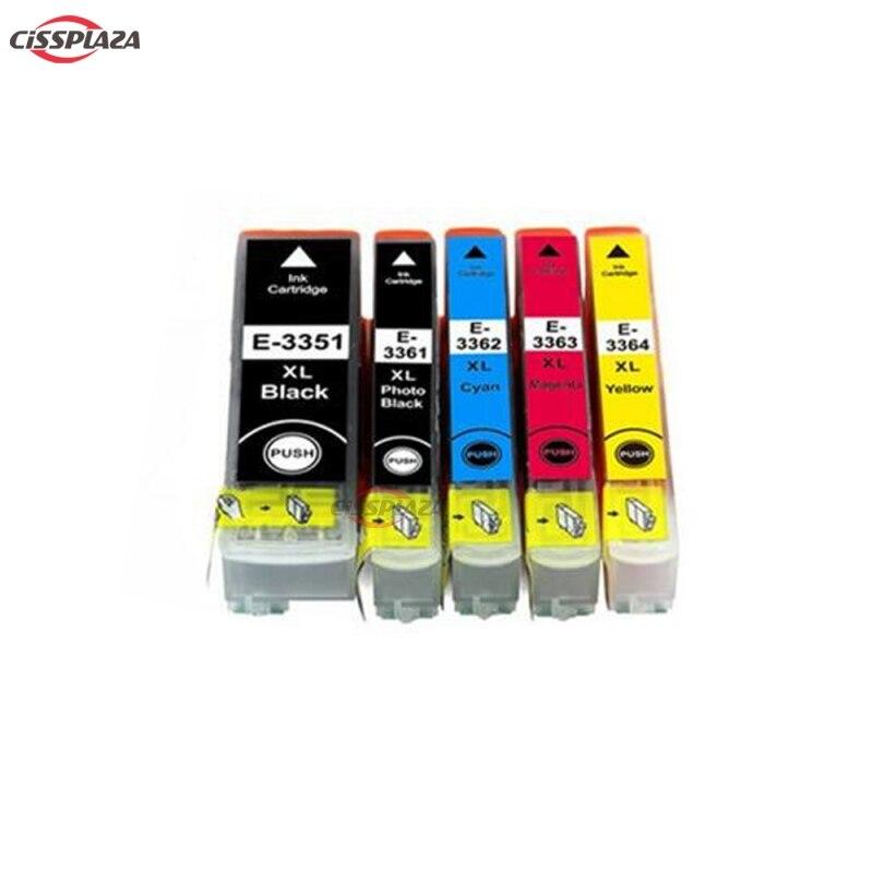 CISSPLAZA, 10 шт., T3351 - T3361 33XL, чернильный картридж для искусственных элементов, фотографический принтер