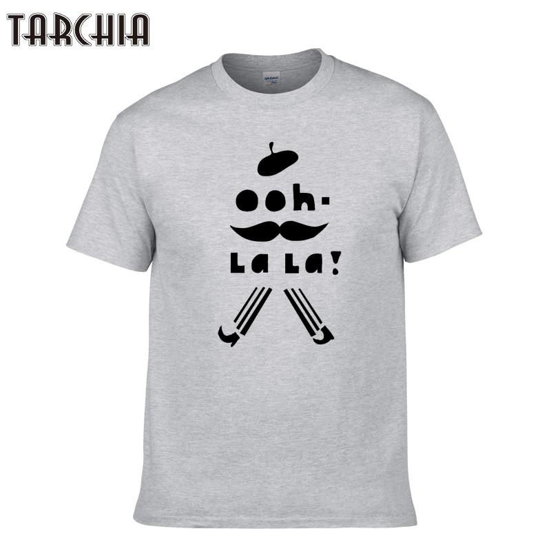 TARCHIA Mens T Shirts Fashion 2018 Funny Print Short Sleeve Slim Fit Tees Shirts Summer Male Handsome T-Shirt Tops Homme