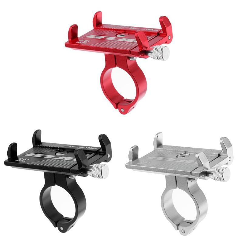 GUB Adjustable Anti-Slip Mobile Phone Stand Holder Electric Scooter Handlebar Mount Bracket