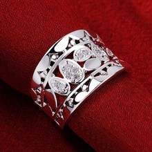 R570 new Christmas 925 sterling silver accessories charm women Crystal Ring