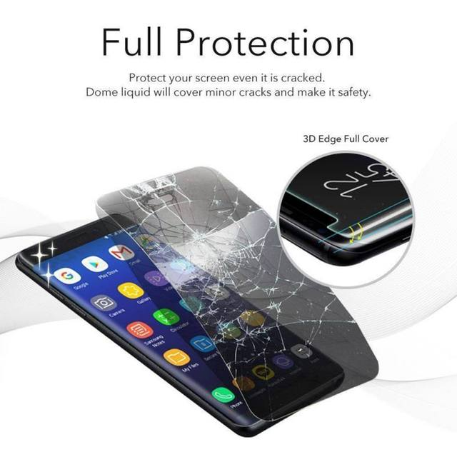 Full Screen HD Film+Mouse Light Liquid Glue Liquid full Glue Tempered Glass For Samsung Galaxy Note8 S8 S9 Screen Protector