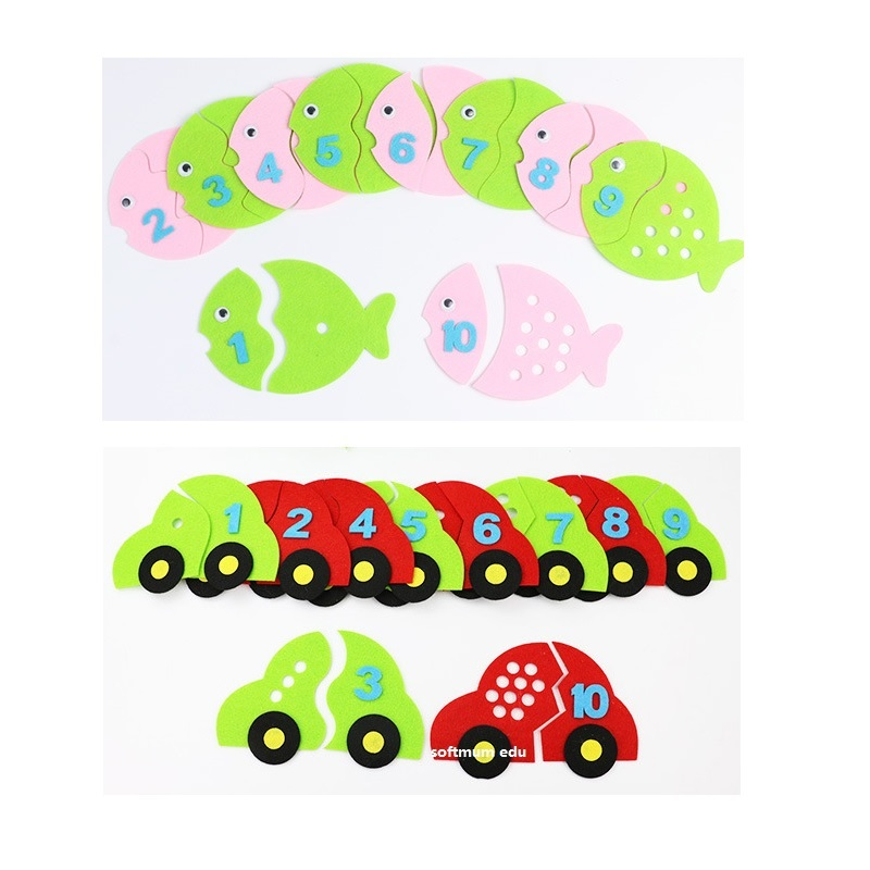Kids Toddler Learning Toy Weave Cloth Number 1-10 Counting Teaching Aids 04