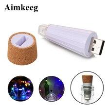 Aimkeeg 1 шт USB перезаряжаемые бутылки огни Премиум крышка бутылки пробки лампы креативные романтические светильники-Пробка Белый/красочный