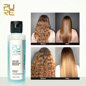 100ml płyn do pielęgnacji włosów o smaku jabłkowym prostowanie włosów naprawa uszkodzeń kędzierzawe włosy brazylijskie zabiegi keratyny odżywka TSLM2 tanie i dobre opinie Leczenie włosów i skóry głowy Hair Treatments Any skin type