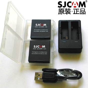 SJCAM Accessories Original SJ6 Batteries Rechargable Battery Dual Charger Case For Legend Action Sports Camera - sale item Camera & Photo