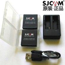 Sjcam câmera de bateria recarregável, acessórios originais para sj6, bateria de carregador duplo, caixa de bateria para sjcam sj6 legend, câmera esportiva de ação
