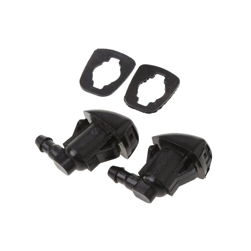 2Pcs Fan Shape Windshield Wiper Washer Jet Nozzle Spray For Toyota E120 Corolla Camry XV30