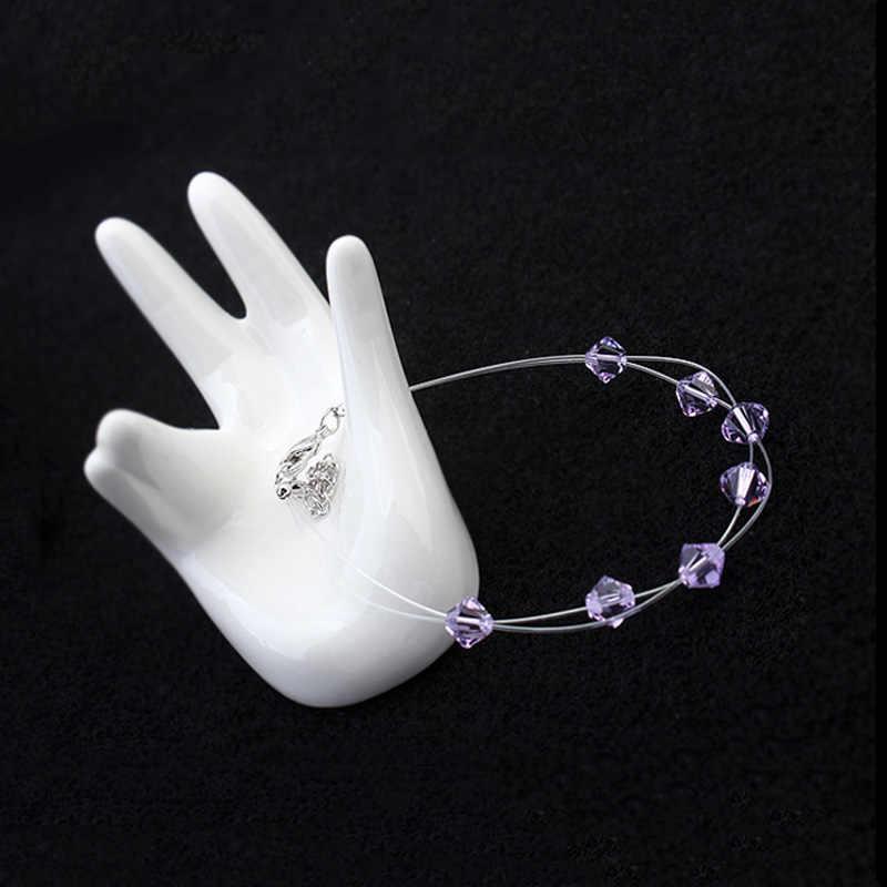 Joyashiny оригинальные Кристаллы из элементов Swarovski Strand браслеты браслет цепочка Pulseiras женские богемные ювелирные изделия в одном направлении